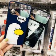 苹果型号  创意卡通镜面手机保护壳(图案随机)